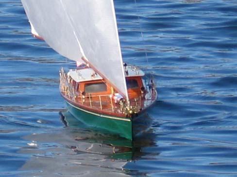pond model ship sailboat